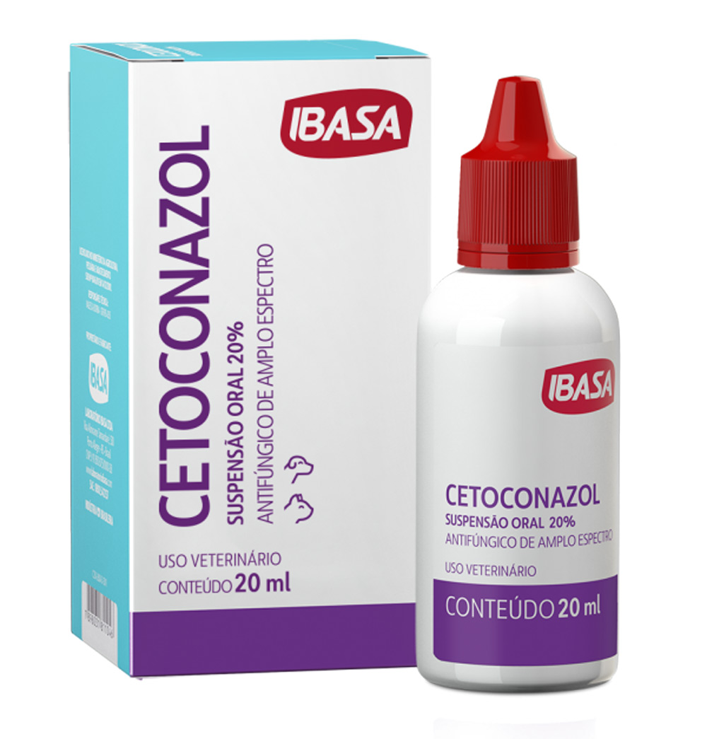Ibasa - Suspensão Oral Antifúngica Cetoconazol 20 mL