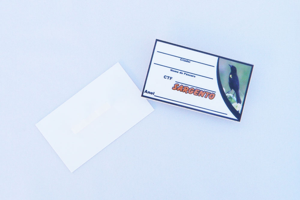 Placa de identificação em PVC laminado - Sargento