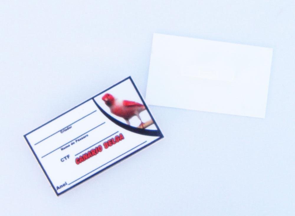 Placa de identificação em PVC laminado - Canario Belga