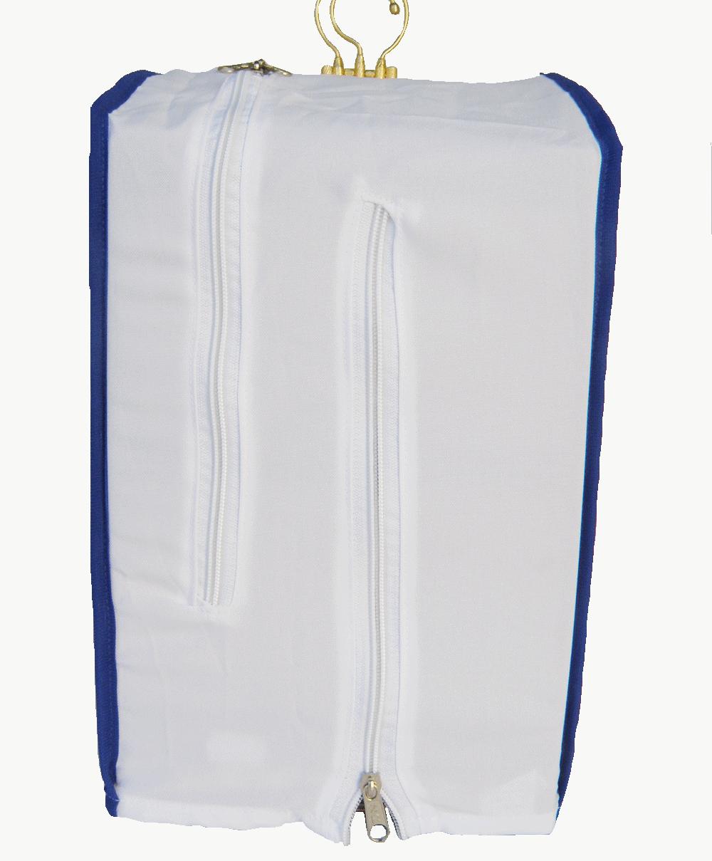 Capa Tecido Coleiro - Com Tela Branca Vies Azul