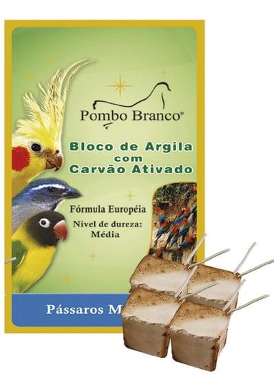 BLOCO COM ARGILA PASSAROS MEDIOS - POMBO BRANCO