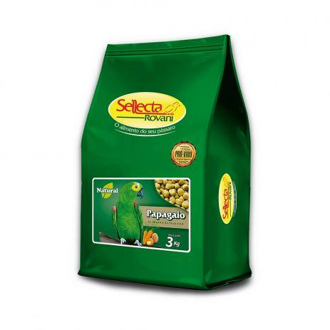 SELLECTA - EXTRUSADA NATURAL PAPAGAIO COM FRUTAS 3KG