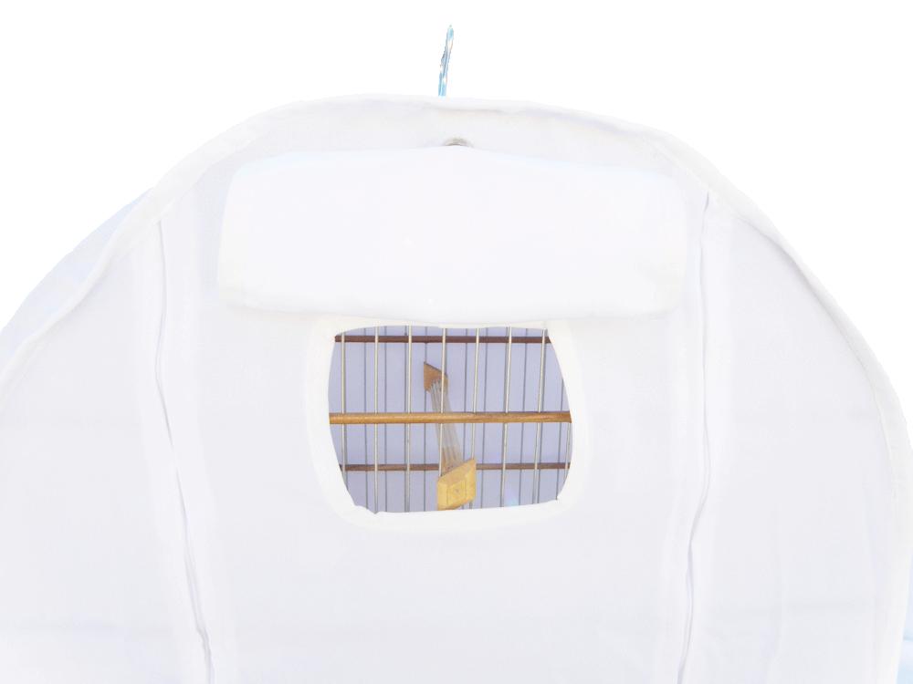 Capa Tecido N°5 - Branca Viés Branco