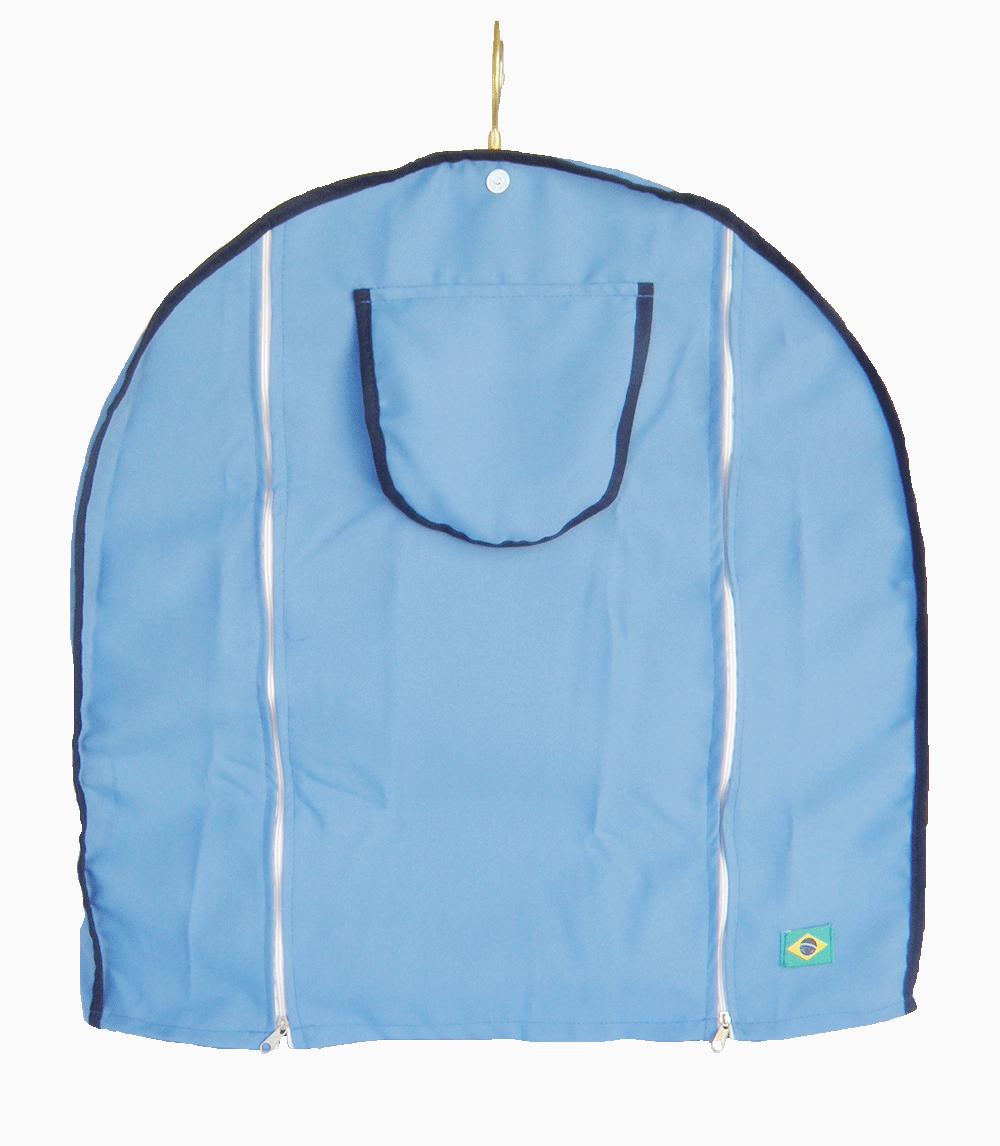 Capa Tecido Gaiola Redonda N°5 Azul Viés Azul