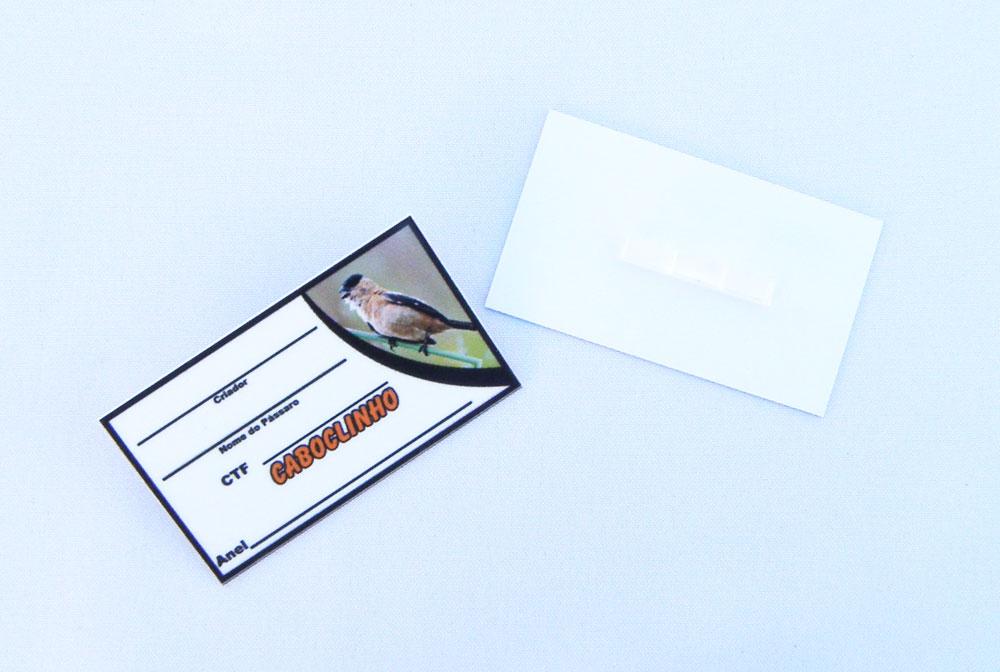Placa de identificação em PVC laminado - Caboclinho