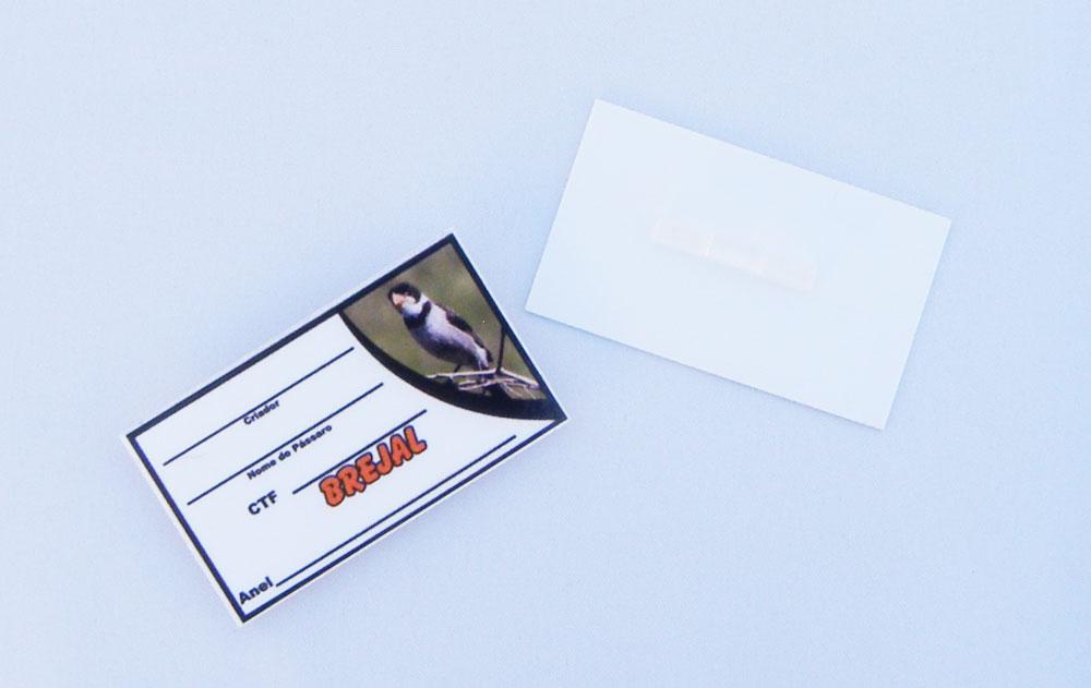 Placa de identificação em PVC laminado - Brejal