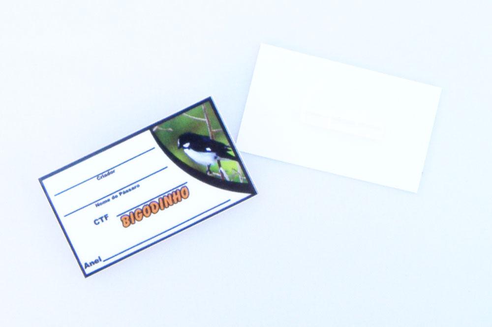 Placa de identificação em PVC laminado - Bigodinho