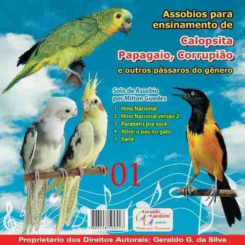 CD - Assobios Para Calopsita, Papagaio e Corrupião - Grêmio