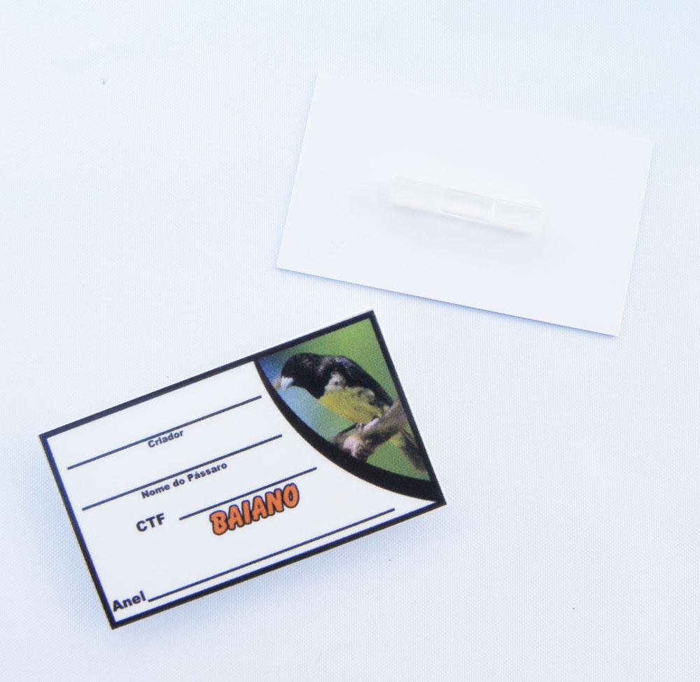 Placa de identificação em PVC laminado - Coleiro Baiano