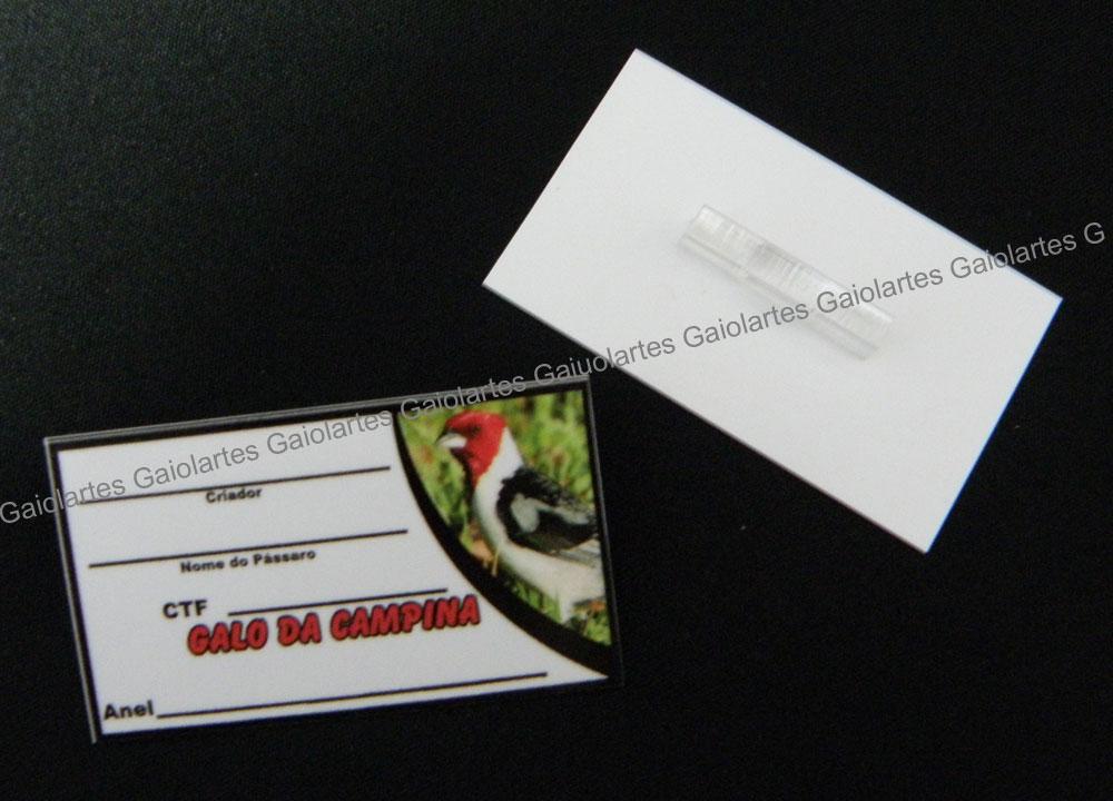 Placa de identificação em PVC laminado - Galo da Campina