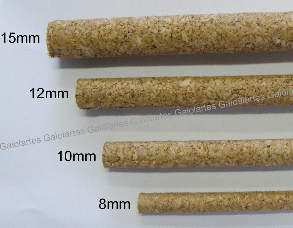 Kit 3 poleiros cortiça natural - 12mm x 22,5cm