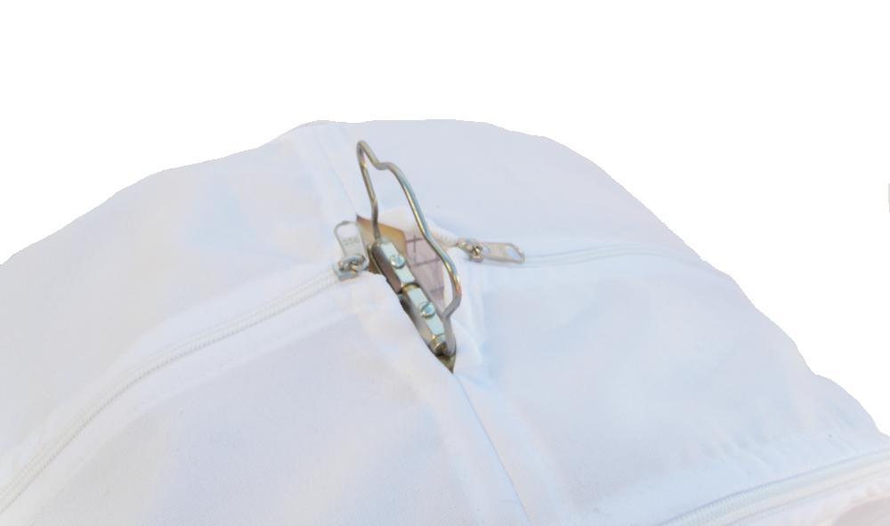 Capa Especial Fechada Tecido Oxf - Gaiola Redonda N°6 Branca