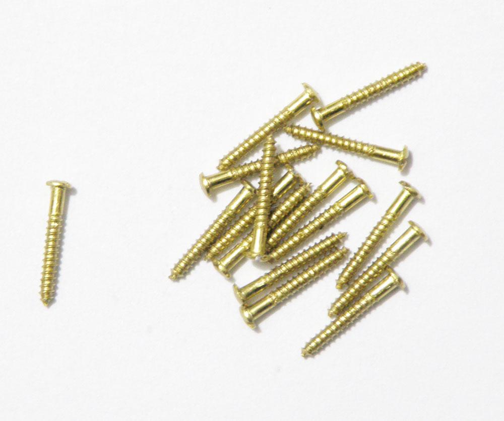 Micro Parafuso de Latao Para Gaiolas - 11,5x1,5mm - 1000 Un